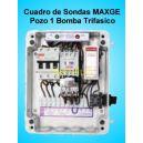 Cuadro de Sondas para bomba Sumergibles 1.50-2 HP Trifasico Pozo MAXGE