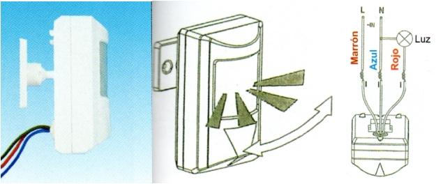 Detector de movimiento presencia de superficie sensor pir - Detector de movimiento para luces ...