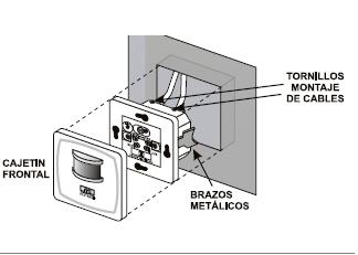 Interruptor Detector De Movimiento Presencia Empotrable En Cajetin De 2 Hilos Cables Sensor De