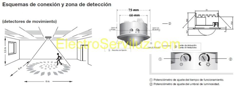 Detector De Movimiento Presencia Empotrable De Techo Con Sensor Infrarrojo Sensor Pir De 360